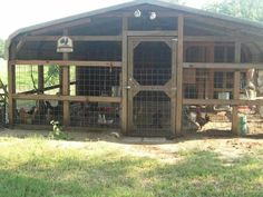 Make a chicken coop out of a carport.