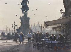 """Coffee Time"", Venice watercolour 11 x 14 inches"