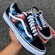 Cop or Drop these Vans by ⠀ ⠀ ⠀ ⠀ ⠀ ⠀ ⠀ ⠀ Cute Sneakers, Vans Sneakers, Vans Shoes Fashion, Nike Fashion, Custom Vans Shoes, Best Vans Shoes, Galaxy Shoes, Cute Vans, Tenis Vans