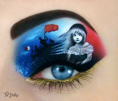 Artist Transforms Her Eyelids into Paintings Inspired by Movies, Musicals, and Books - My Modern Met