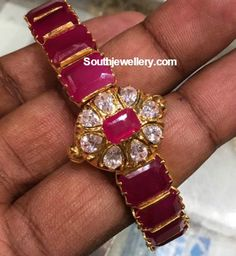 Indian Jewellery Designs - Page 16 of 1785 - Latest Indian Jewellery Designs 2020 ~ 22 Carat Gold Jewellery one gram gold Mom Jewelry, Ruby Jewelry, Beaded Jewelry, Gold Bangles Design, Gold Earrings Designs, Jewellery Designs, Ruby Bangles, Bangle Bracelets, Necklaces