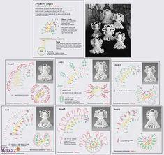 Alice's Enchanted World: Crochet ANGELS for Christmas tree Crochet Christmas Decorations, Christmas Crochet Patterns, Crochet Ornaments, Holiday Crochet, Crochet Snowflakes, Angel Ornaments, Christmas Crafts, Thread Crochet, Filet Crochet