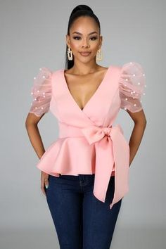 Classy Outfits, Chic Outfits, Fashion Outfits, Latest African Fashion Dresses, African Print Fashion, Look Fashion, Skirt Fashion, Peplum Top Outfits, Sleeves Designs For Dresses