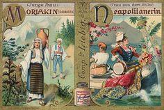 -s609- Alphabet, Women's Costumes. 1900 (M-N).