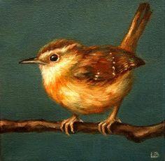 """Little Wren"" - Original Fine Art for Sale - © Larisa Brechun"
