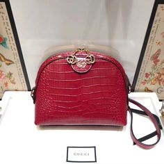 be0a02c6041 Gucci Ophidia Crocodile Pattern Small Shoulder Bag 499621 Red 2018. Gucci  Outlet OnlineGucci ...