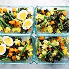 Easy Roasted Veggies Meal-Prep Bowls recipe is one of the best ways to pack your body with good nutrients and feel satisfied. It's also great for a vegetarian, paleo and whole30 dinner. #mealprep #vegetarian