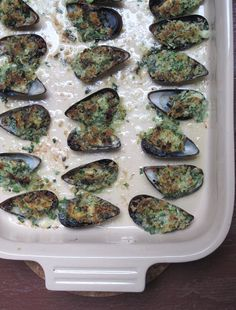 Pin for Later: 13 Standout Julia Child Recipes Moules à la Provencal Even those on the fence about mussels will be drawn to the bubbling-brown, buttery gratin topping on these moules à la Provencal.