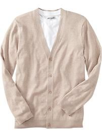 mens-button-front-v-neck-cardigans-heather-oatmeal