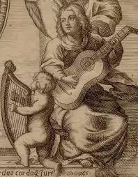 Barroco - Gaspar Sanz, S. XVII. Ilustración de su libro para guitarra.