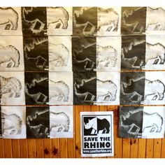 I made rhino conservation part of our wild animals theme. I took inspiration from the savetherhinos.org Symbol. My grade R really enjoyed this but it was quite labour intensive! :)