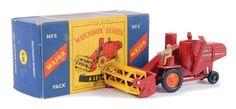 The Ron Calcott Matchbox Collection | Major Packs | Vectis Toy Auctions Matchbox Major Pack No.M5 Massey Ferguson 780 Combine Harvester