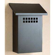 Arroyo Craftsman Glasgow Wall Mounted MailBox in Satin Black Modern Mailbox, Metal Mailbox, Wall Mount Mailbox, Mounted Mailbox, Glasgow, Craftsman Mailboxes, Traditional Mailboxes, Mackintosh Design, Square Windows