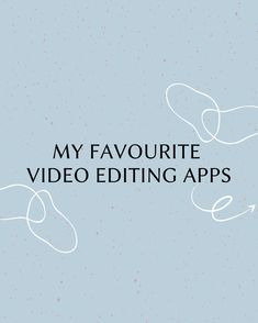 1. InShot 🌟 This is a super easy to use video editing app. I use this one a lot to create simple edits.  2. VideoLeap 🌟 Another great editing app that makes editing on your phone a breeze!  3. Creator Hub 🌟 This is an amazing app for stunning video filters! My favourites are the presets by haylsa and chelseakauai.  4. Prequel 🌟 Use this app for fun filters or for basic editing. Great app to make stories more fun or for TikTok content.  5. Tezza 🌟 Give your content a vintage/ indie look.