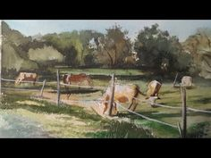 Cows Grazing, Painting Watercolour, Time Lapse - YouTube