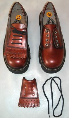 Vtg Unisex Metallic Fringed Brogues Sz 36  Two In by walydesign, $89.59