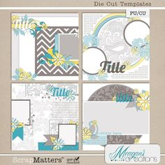 Die Cut Templates by Meagan's Creations