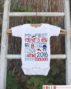 Kids Father s Day Outfit - Boys Happy 1st Fathers Day Onepiece or Tshirt -  Baby Boy eb8e388c9