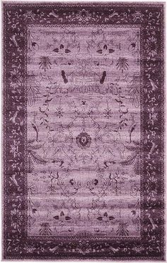 Modern Vintage 5 feet by 8 feet x La Jolla Purple Contemporary Area Rug For Sale La Jolla, Room Rugs, Rugs In Living Room, Floor Cloth, Area Rugs For Sale, Purple Area Rugs, Contemporary Area Rugs, Modern Traditional, Carpet Runner