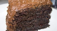 The BEST Chocolate Cake Recipe Moist Fluffy Chocolate Cake Recipe - Recipes to Cook - Best Moist Chocolate Cake, Fluffy Chocolate Cake, Amazing Chocolate Cake Recipe, Chocolate Frosting, Homemade Chocolate, Chocolate Desserts, Greek Desserts, Just Desserts, Delicious Desserts