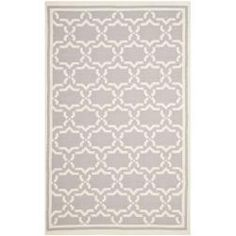 @Overstock - Moroccan inspired design and dense hand-woven wool pile highlight this handmade dhurrie rug. This floor rug has a grey background and displays stunning panel colors of ivory.http://www.overstock.com/Home-Garden/Moroccan-Dhurrie-Grey-Ivory-Wool-Rug-10-x-14/6830834/product.html?CID=214117 $521.09