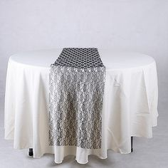 Wedding Supplies - Black - Lace Table Runners