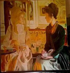 two friends at coffe by Daniel Bulimar Henciu