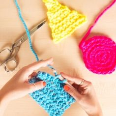 Beginner Crochet 1: Basic Stitches by Kollabora Learn to crochet with these easy stitches! Adding these techniques to your repertoire will enable you to make a large range of fun crochet projects.