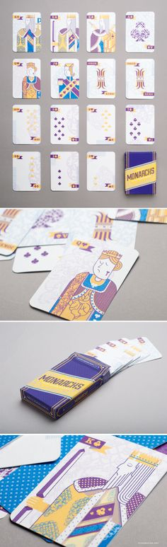 Monarchs Illustration Playing Cards