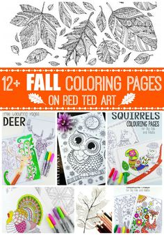 On Red Ted Art we have some amazing free printable adult coloring pages for fall! Great for some Zen downtime! Recharge and enjoy!
