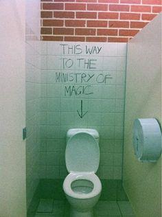 coolest piece of toilet graffiti ever.