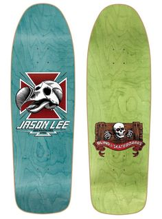 Blind Jason Lee Dodo Skull Green Screened Skateboard Deck Key Features of Blind Heritage Jason Lee Dodo Skull Skateboard Deck: Art by Marc Mckee Re-Issue Tree By-Product x Teal Green - Silkscreen Heritage Jason Lee Dodo Skull Blind Skateboards, Jason Lee, Skateboard Decks, Teal Green, Old School, Blinds, Skull, Skateboarding, Skateboards