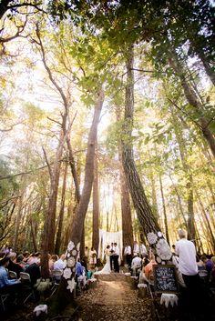 Huddart Park Natural Reception Setup   Brittrene Photography https://www.theknot.com/marketplace/brittrene-photography-san-francisco-ca-397848   AM Party Rentals   Angela Perteet