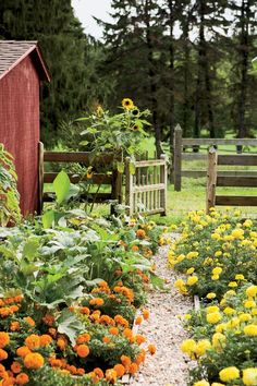 17 Signs You Live in the Country Mason jars, gardens, and porches, anyone? - The most beautiful garden decor Small Backyard Landscaping, Country Landscaping, Landscaping Ideas, Pot Jardin, Garden Cottage, Farmhouse Garden, Country Farmhouse, Garden Oasis, Farmhouse Ideas