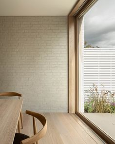 Located on a sloping site in Dollis Hill, north London, this beautifully minimalist house is designed by architecture studio Thomas McBrien. Architecture Design Concept, Interior Architecture, Interior Design, Rear Extension, Brick Extension, Duplex, Casement Windows, The Design Files, House On A Hill