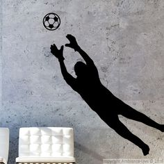 Stickers muraux sport et football - Sticker gardien de football 1   Ambiance-sticker.com