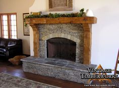Hand Hewn Douglas Fir Mantel Corbels Legs Fire Pits Wood Stoves In Fireplace Decor 17 Rustic Fireplace Mantels, Fireplace Update, Fireplace Hearth, Fireplace Remodel, Fireplace Mantle, Fireplace Surrounds, Fireplace Design, Mantles, Fireplace Ideas