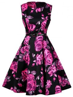 GET $50 NOW | Join RoseGal: Get YOUR $50 NOW!http://www.rosegal.com/vintage-dresses/floral-print-cotton-vintage-dress-974840.html?seid=7877068rg974840