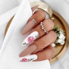 25 Nail Art Ideas and Trends to Try in 2020 | Page 2 of 2 | StayGlam White Tip Nails, Nude Nails, Pink Nails, Nail Art Violet, Purple Nail Art, Neon Nail Designs, New Nail Art Design, Coffin Shape Nails, Coffin Nails Long