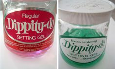 Dippity-do hair setting gel - regular pink  and extra hold green!