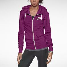 Nike Gym Vintage Full-Zip Women's Hoodie. I am wearing this right now and I love it! Shop at Sports Authority