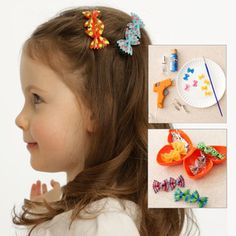 DIY Craft: Bow-Tie Pasta Hair Barrettes