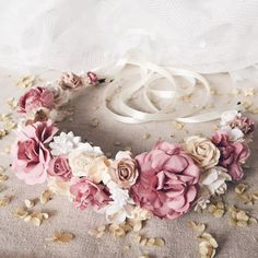 Bridal flower crown Bridal floral crown Floral wedding by SERENlTY
