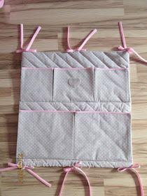 Apozu: Jak uszyć organizer na łóżeczko... - 26/52 projekt 2015. Bed Rest Pillow, Wall Hanging Crafts, Bag Storage, Linen Storage, Baby Sewing, Baby Room, Diaper Bag, Kids Room, Charts