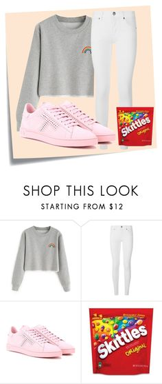 """""""Taste The Rainbow ;)"""" by lollipollipop ❤ liked on Polyvore featuring Post-It, Burberry and Tod's"""