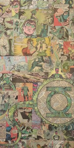Green Lantern collage por Mike Alcantara