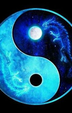 Full and Eclipse Moon Dragon Ying Yang, Michael Berland Ying Yang Wallpaper, Wolf Wallpaper, Galaxy Wallpaper, Ying Y Yang, Yin Yang Art, Yin And Yang, Ying Yang Symbol, Yin Yang Tattoos, Dragon Yin Yang Tattoo
