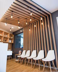 edison lighting in waiting area – Modern Office Design Industrial Office Design, Modern Office Design, Office Interior Design, Office Interiors, Medical Office Design, Office Space Design, Commercial Design, Commercial Interiors, Deco Studio