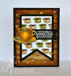 RutabagaPie Designs: JustRite Papercraft Coffee House #1 - Fall Coffee Loving Blog Hop