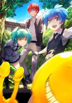 korosensei trying to get into the picture